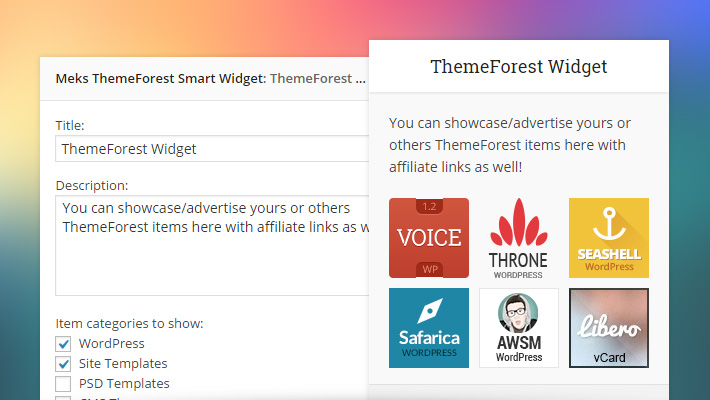 ThemeForest Smart Widget