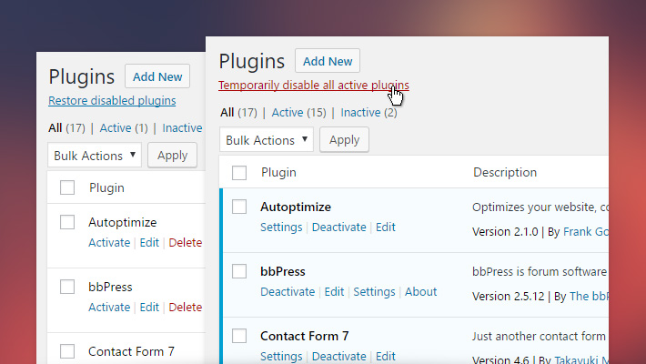 Quick Plugin Disabler