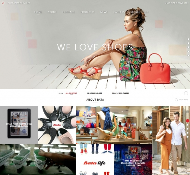 Bata shoes wordpress busines websites examples