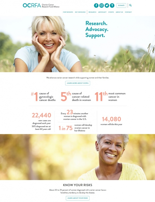 • Ovarian cancer research fund alliance wordpress business websites examples