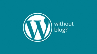 Using WordPress without blog – the right way right away