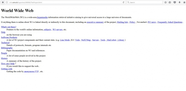 the first web page, why celebrate www day