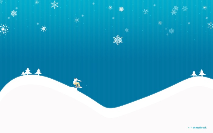 free winter wallpapers vector snowboarding