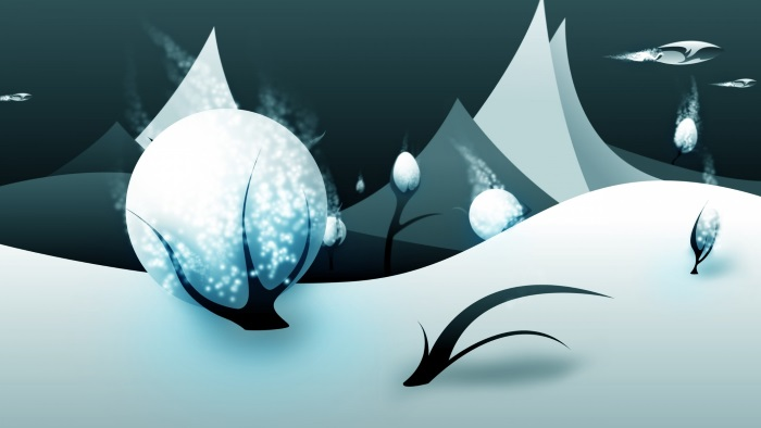 free winter wallpaper snowball vector