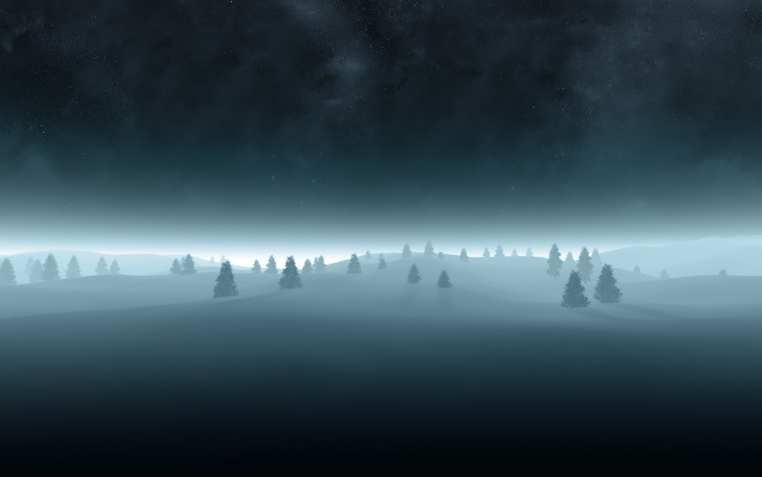 free winter wallpaper vector forrest