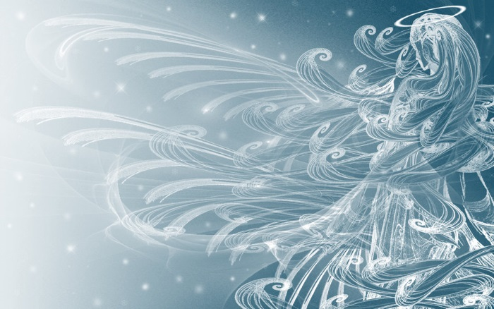 free winter wallpapers angel