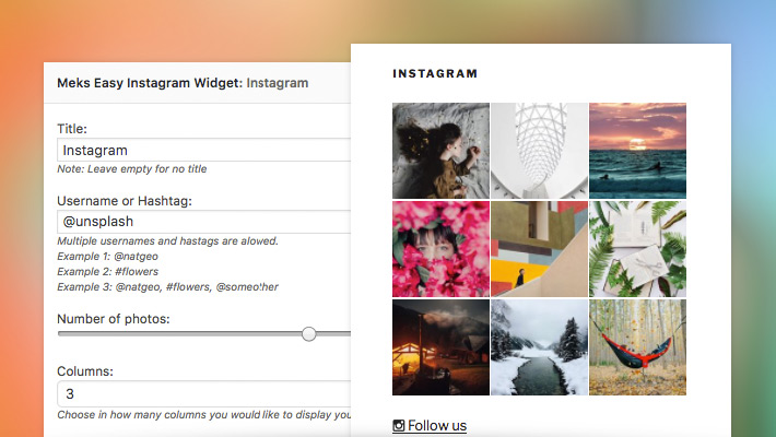 Easy Instagram Widget