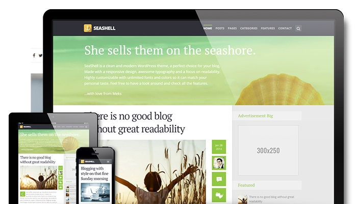 wordpress blogging platforms seashell