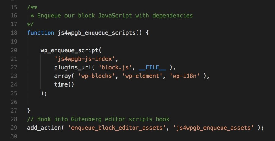 gutenberg development tip 1