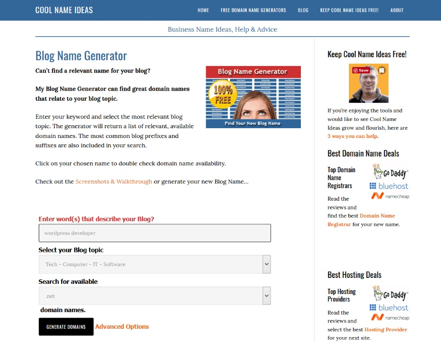 The Meks For Best Your Blog Generator Tools Name