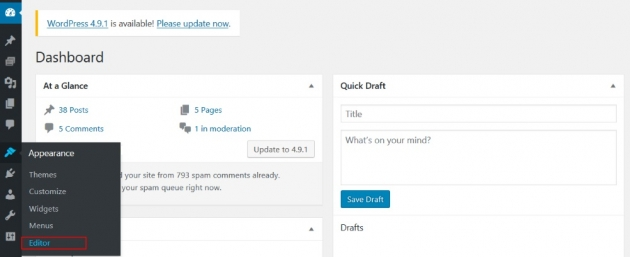 add google analytics manually in wordpress step one