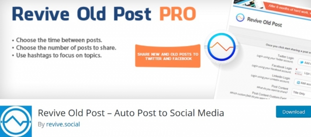 WordPress blogger plugins Revive Old Post