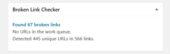 WordPress blogger plugins Broken link checker