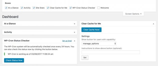 WordPress blogger plugins Clear Cache For me