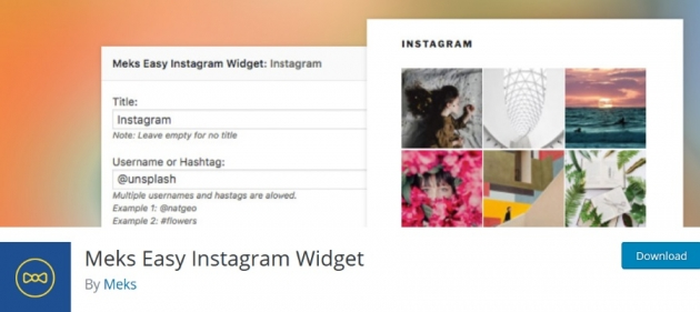WordPress blogger plugins Easy Instagram Widget