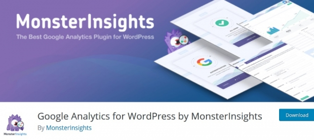 WordPress blogger plugins GA for WP by MonsterInsights