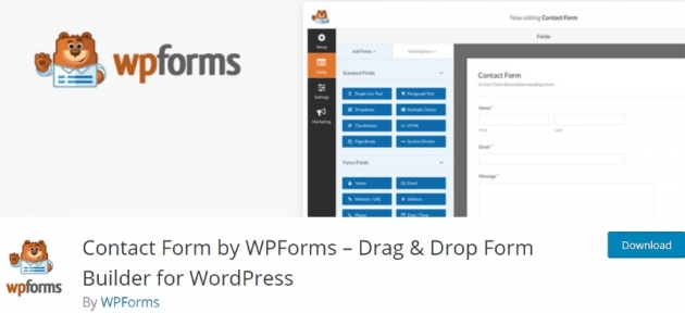 WordPress contact form plugin WPForms