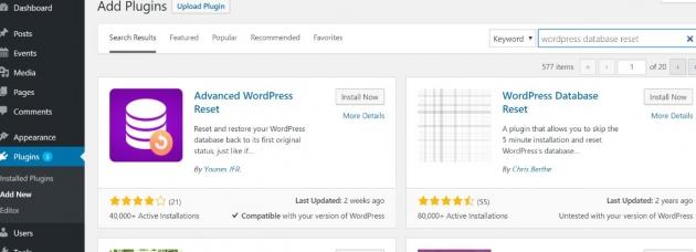 how to delete a WordPress theme intarely screenshot example