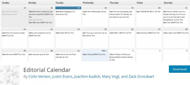 marketing wordpress plugins editorial calendar