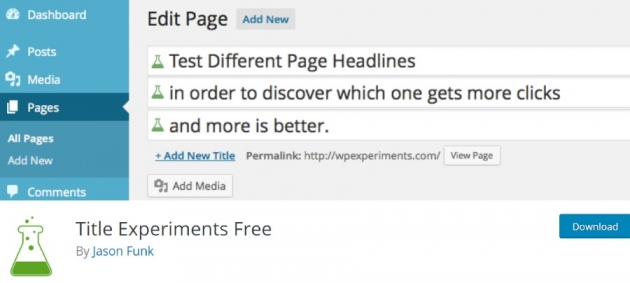 marketing wordpress plugins title experiments