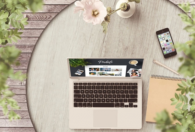 pinhole theme on computer as a thene for affiliate marketing business