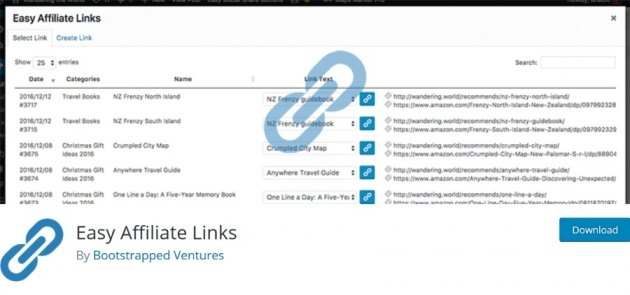easy affiliate links plugin for affiliate marketing business