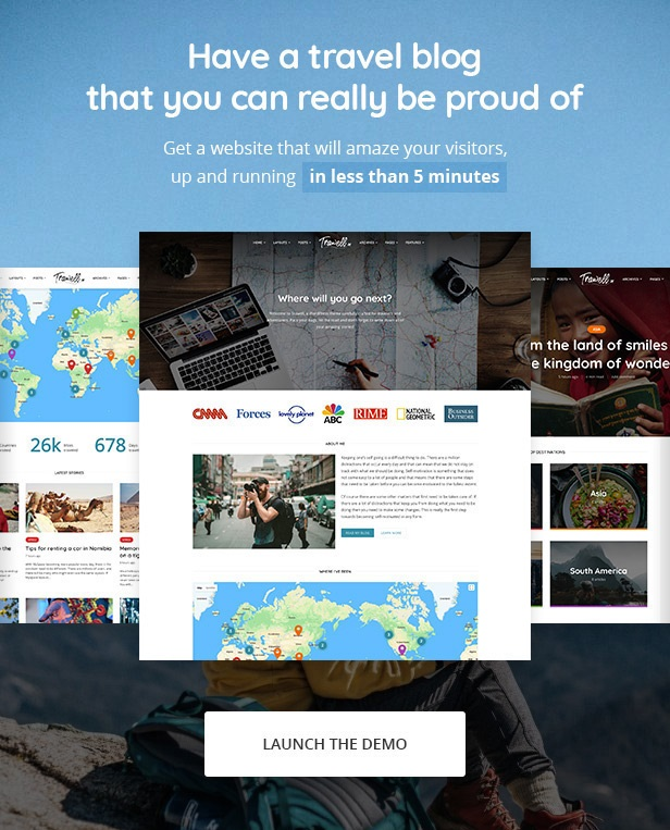 trawell WordPress travel theme