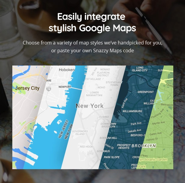 WordPress travel theme with Easy Maps plugin