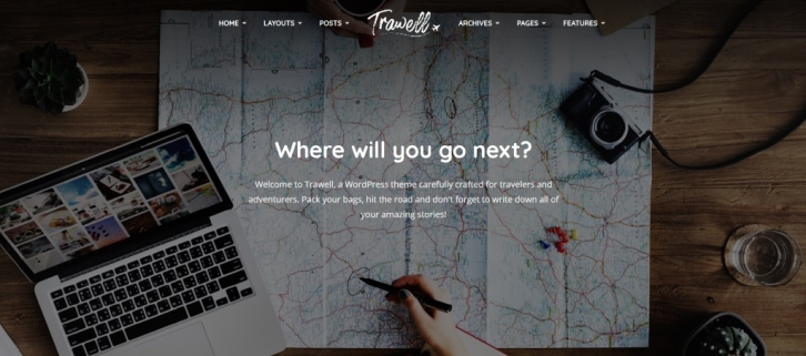 Meet Trawell – the newest WordPress travel theme