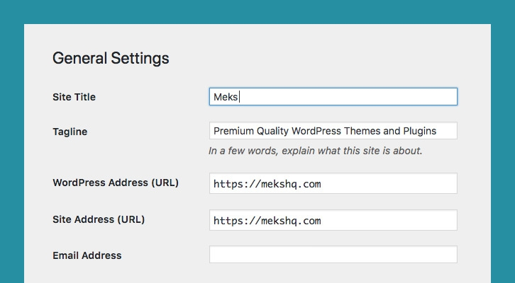 How to change the site title (and tagline) in WordPress
