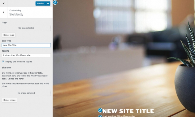 How to change site title in WordPress - Step four