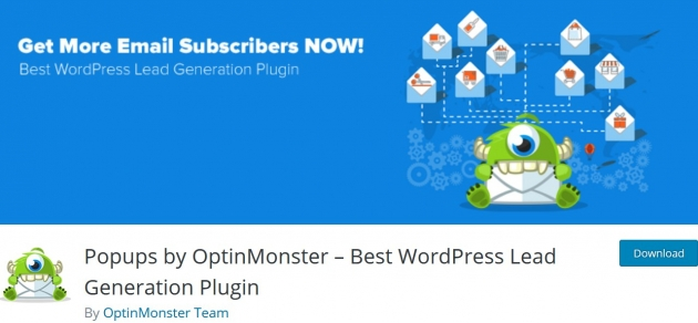 WordPress popup plugin Optinmonster