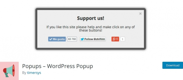 WordPress popup plugin popups