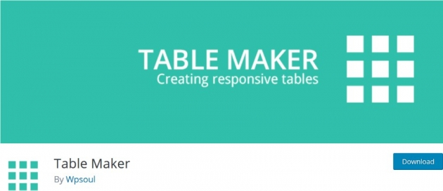 wordpress table plugin table maker