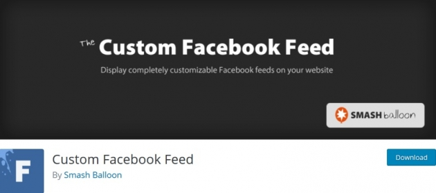 Custom Facebook Feed WordPress plugin