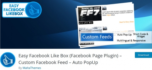 Easy Facebook Likebox Facebook plugin for WordPress