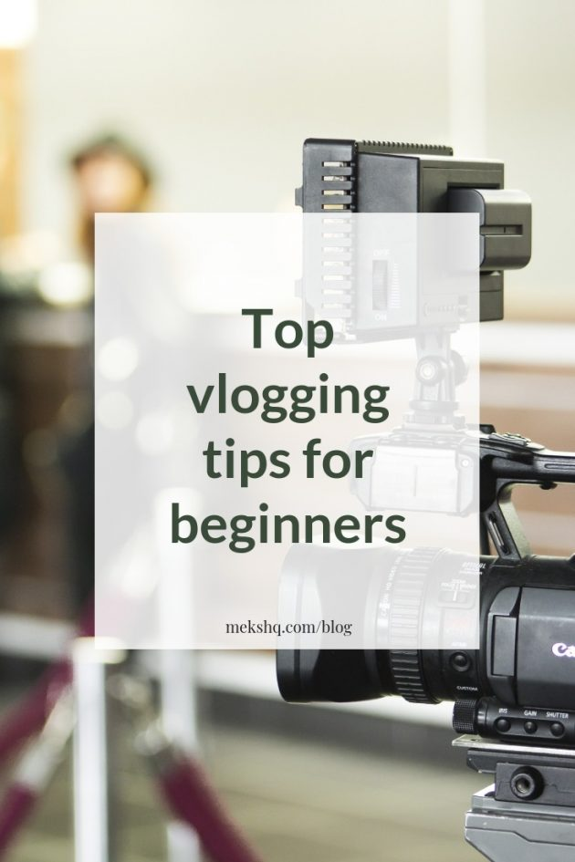 Top vlogging tips for beginners Pinterest image