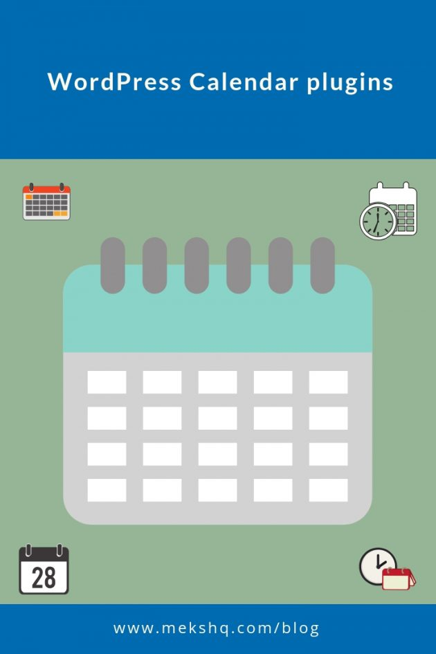 WordPress Calendar Plugins Pinterest visual