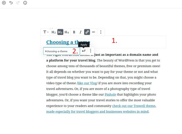 wordpress-anchor-links-in-gutenberg-step-two