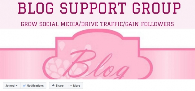 Blog Support Group facebook groups for bloggers