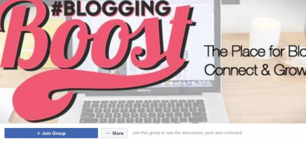 Blogging boost facebook groups for bloggers