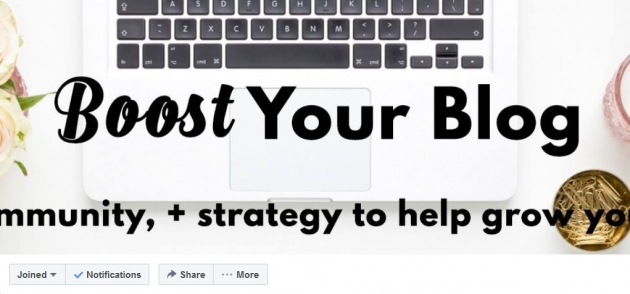 Boost Your Blog facebook groups for bloggers