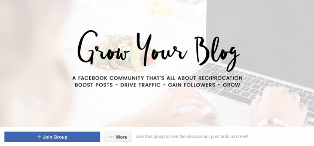 Grow your blog facebook groups for bloggers