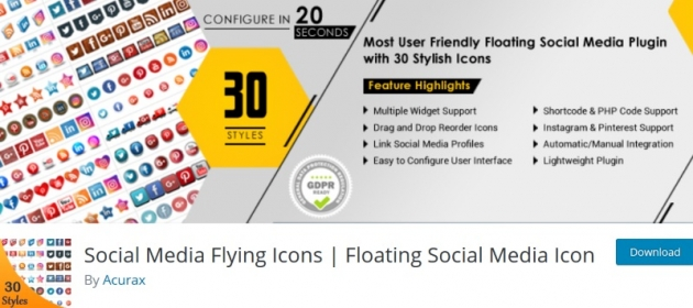 social-media-flying-icons-free-social-media-plugin-for-wordpress