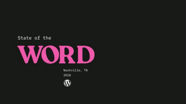 WCUS 2018 State of the Word