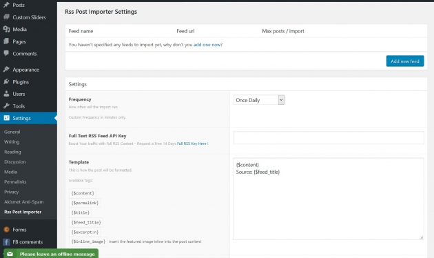 wordpress-rss-feed-plugin-rss-post-importer-dashboard