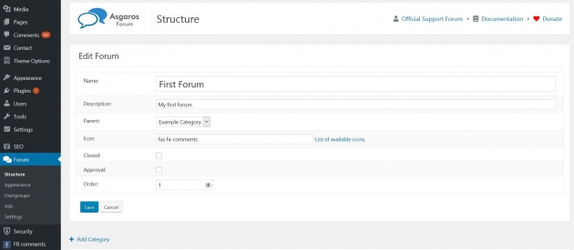 best-forum-plugin-for-wordpress-asgaros-forum-dashboard-screenshot