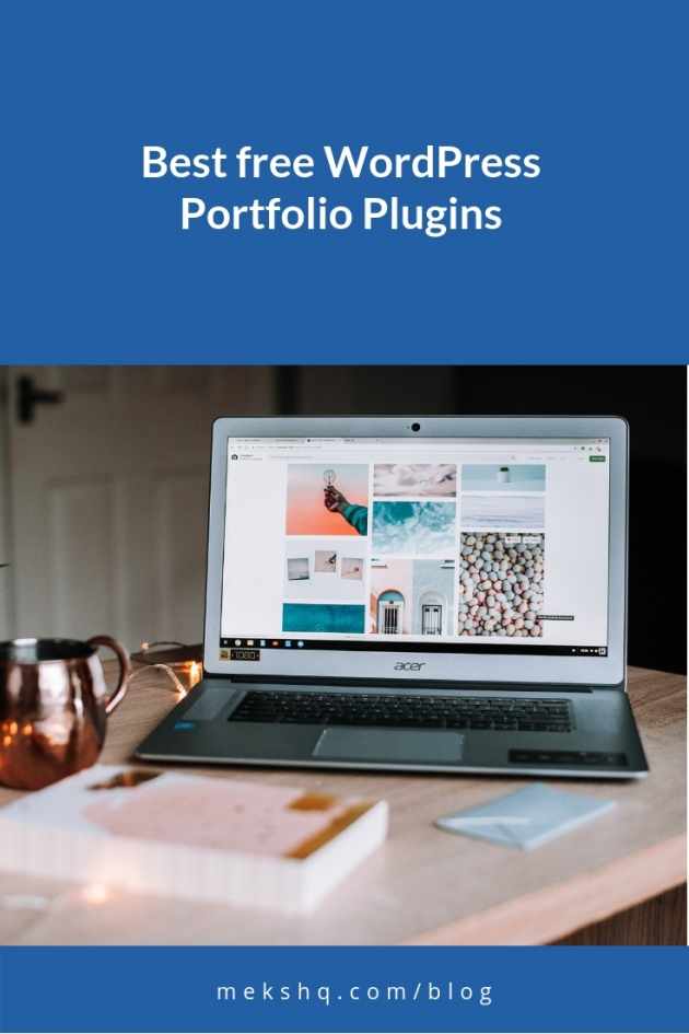 Best WordPress Portfolio Plugins Pinterest image
